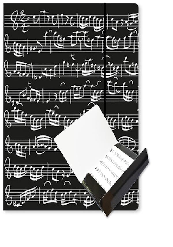 Chormappe Notenblatt schwarz