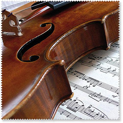 Brillenputztuch Geige/Notenblatt