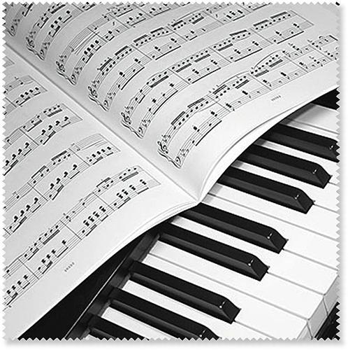 Brillenputztuch Klavier/Notenblatt