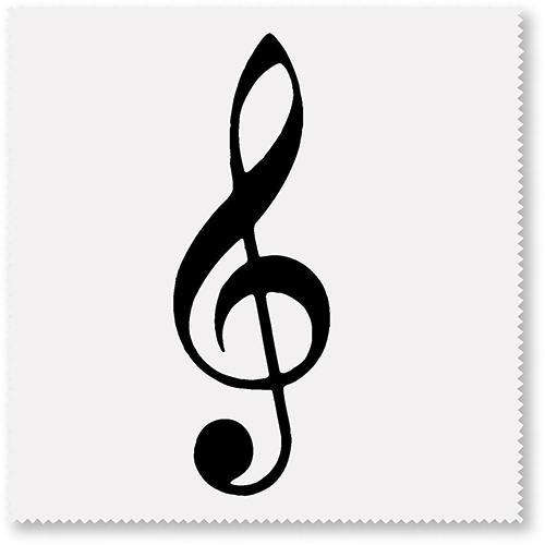 Brillenputztuch Violinschlüssel weiss