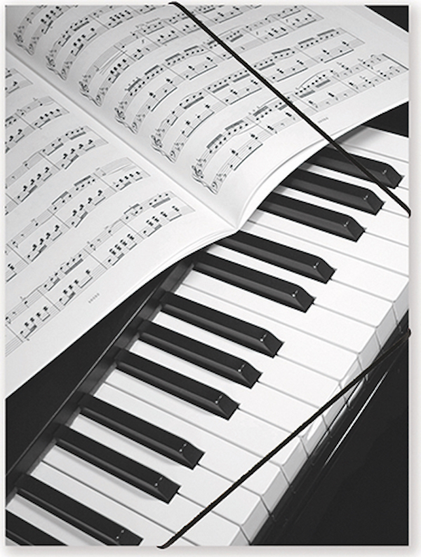 File with elastic band Piano/Sheet music