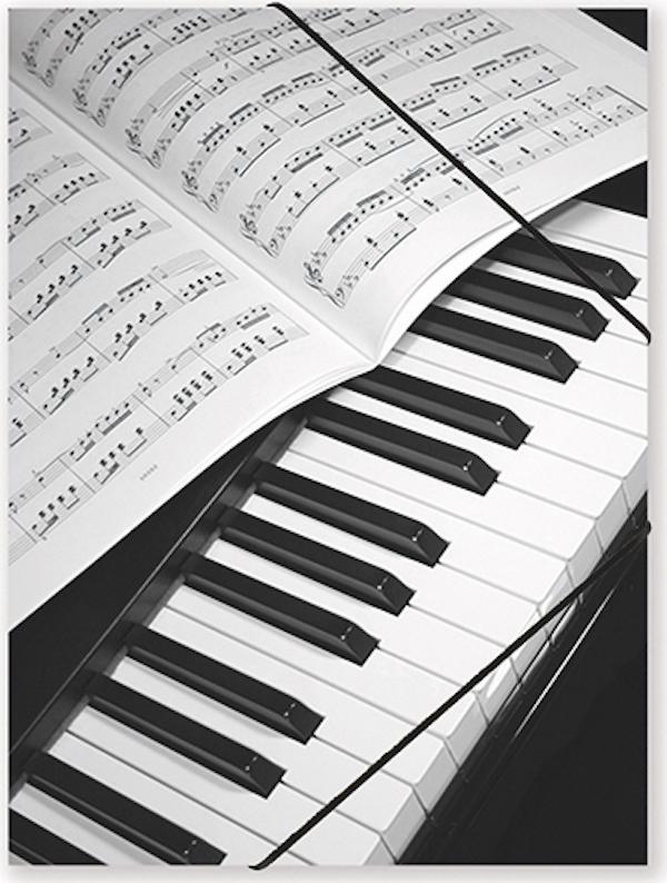 Gummispannmappe Klavier/Notenblatt