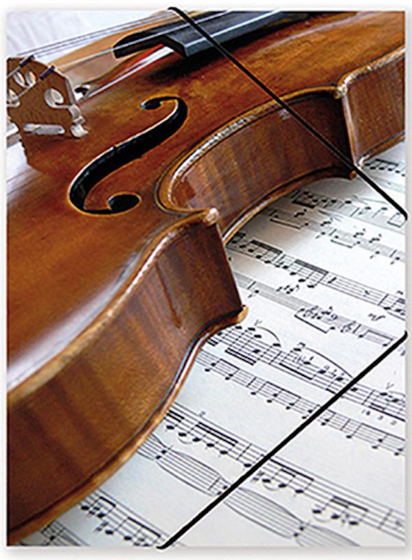File with elastic band Violin/Sheet music