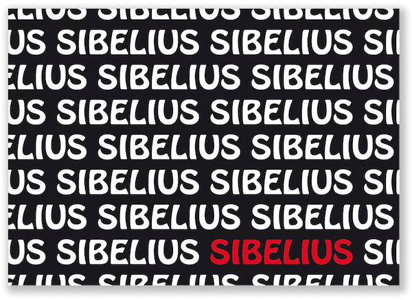 Postkarte Sibelius Text