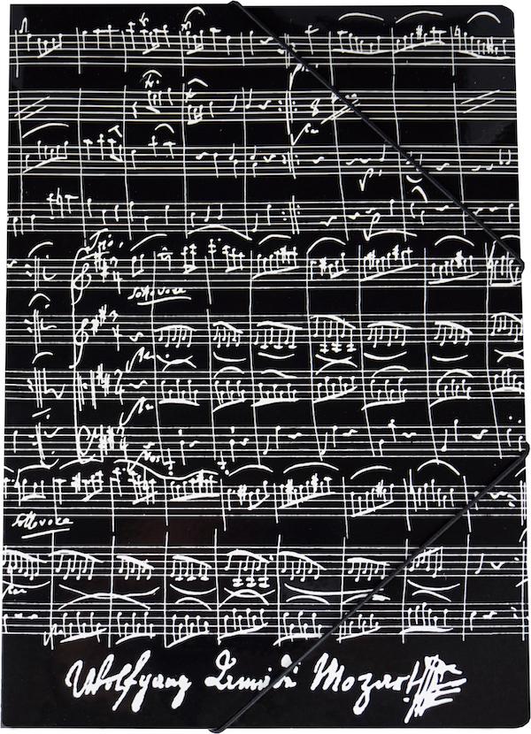 Gummispannmappe Mozart schwarz