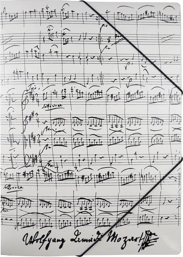 Gummispannmappe Mozart weiss