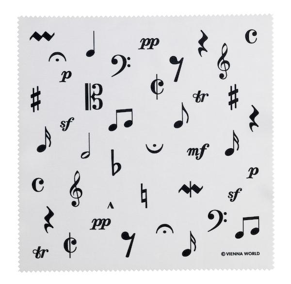 Brillenputztuch Musiksymbole