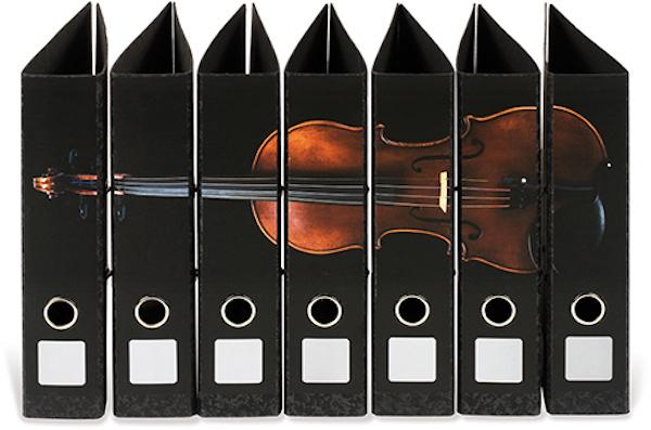 Ordnerrücken Geige 7-tlg