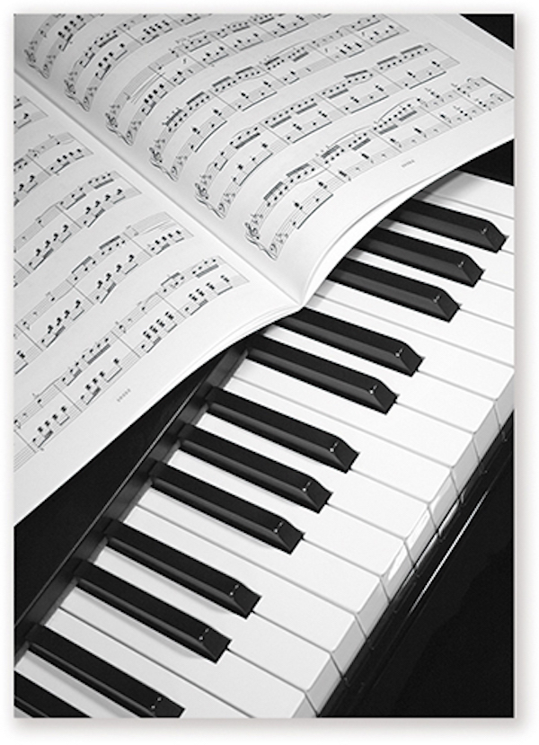 Postcard Piano/Sheet music
