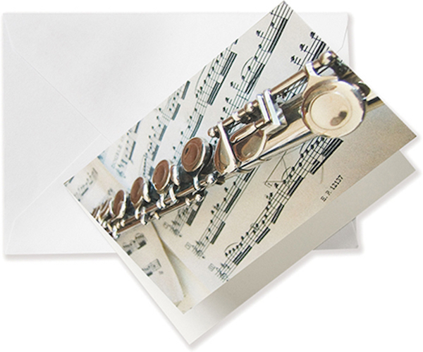 Greeting card Flute/Sheet music A6