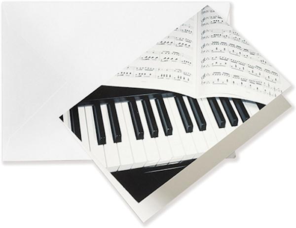 Grusskarte Klavier/Notenblatt A6