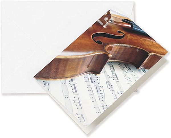 Grusskarte Geige/Notenblatt A6
