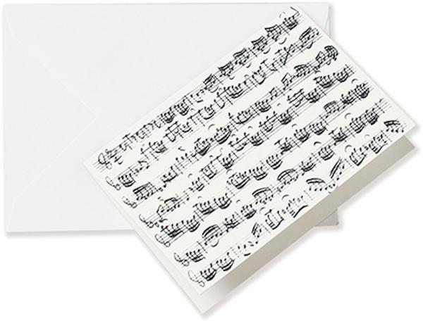Greeting card Sheet music white A6