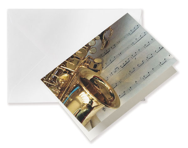 Grusskarte Saxophon A7