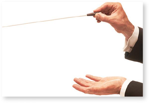 Postkarte Dirigent