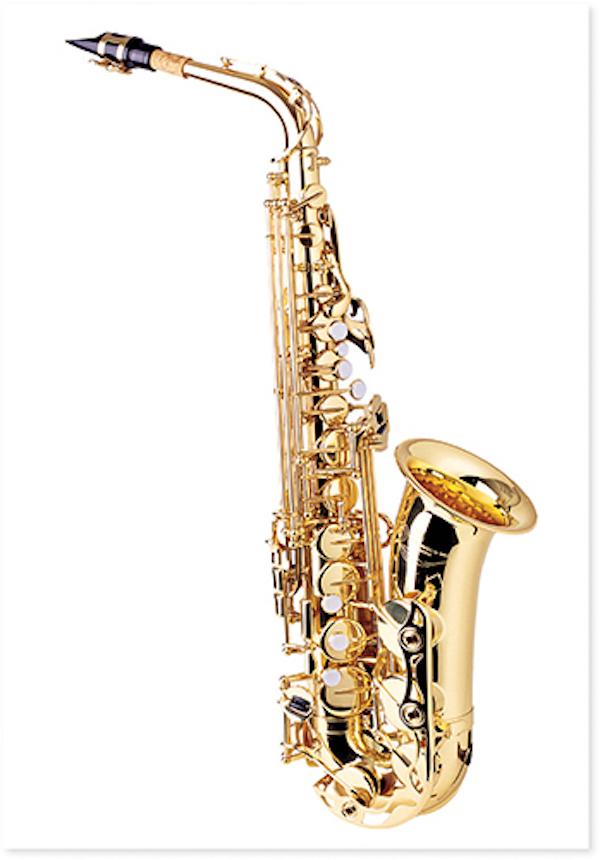 Postkarte Saxophon