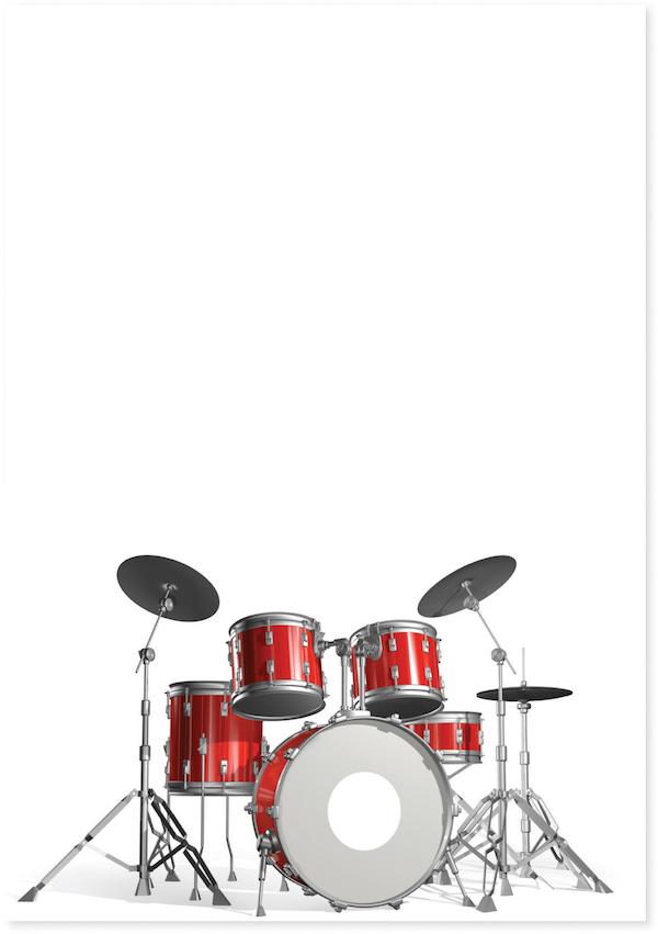 Postkarte Schlagzeug