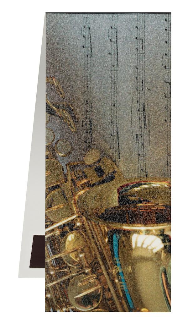Lesezeichen Saxophon/Notenblatt magnetisch