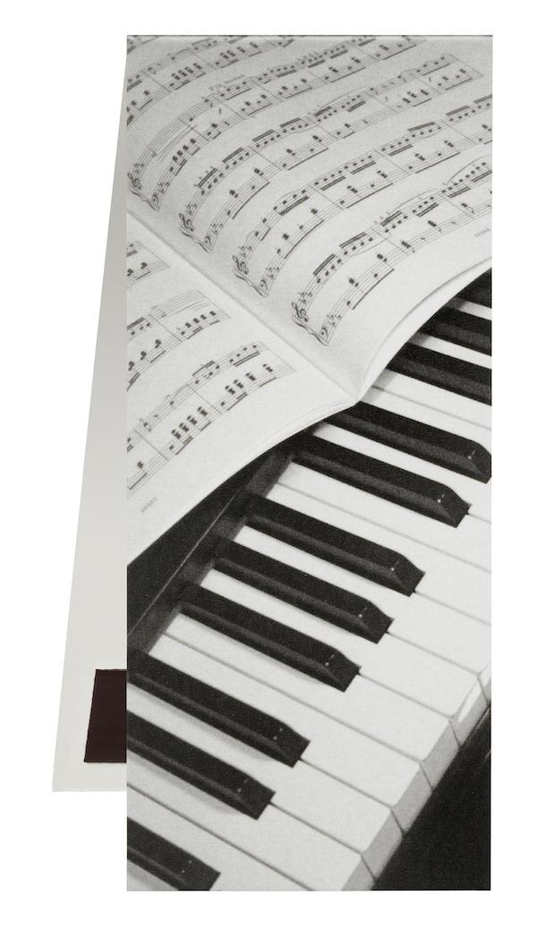 Lesezeichen Klavier/Notenblatt magnetisch