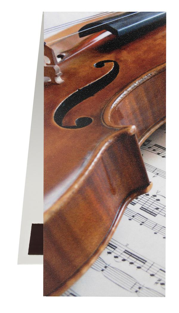 Lesezeichen Geige/Notenblatt magnetisch
