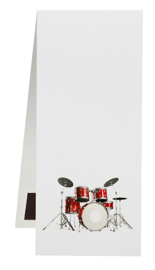 Lesezeichen Schlagzeug magnetisch