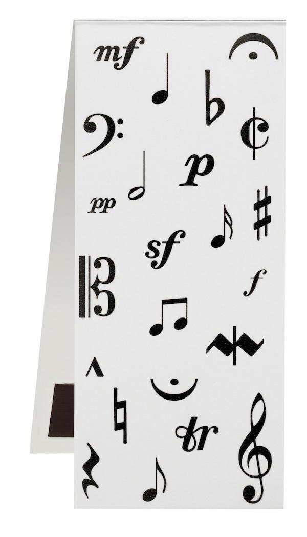 Lesezeichen Musiksymbole magnetisch