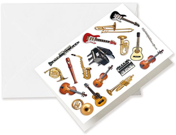 Grusskarte Instrumente A6