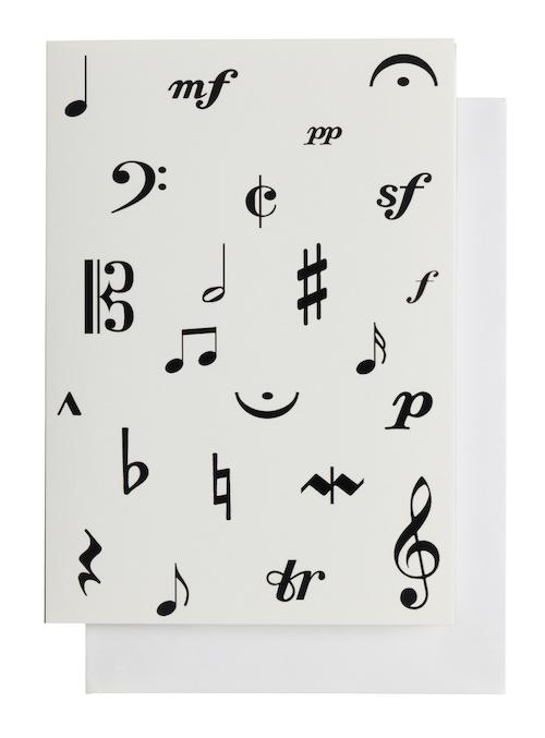 Grusskarte Musiksymbole A6