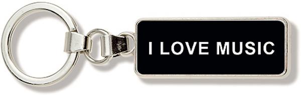 Schlüsselanhänger I LOVE MUSIC schwarz