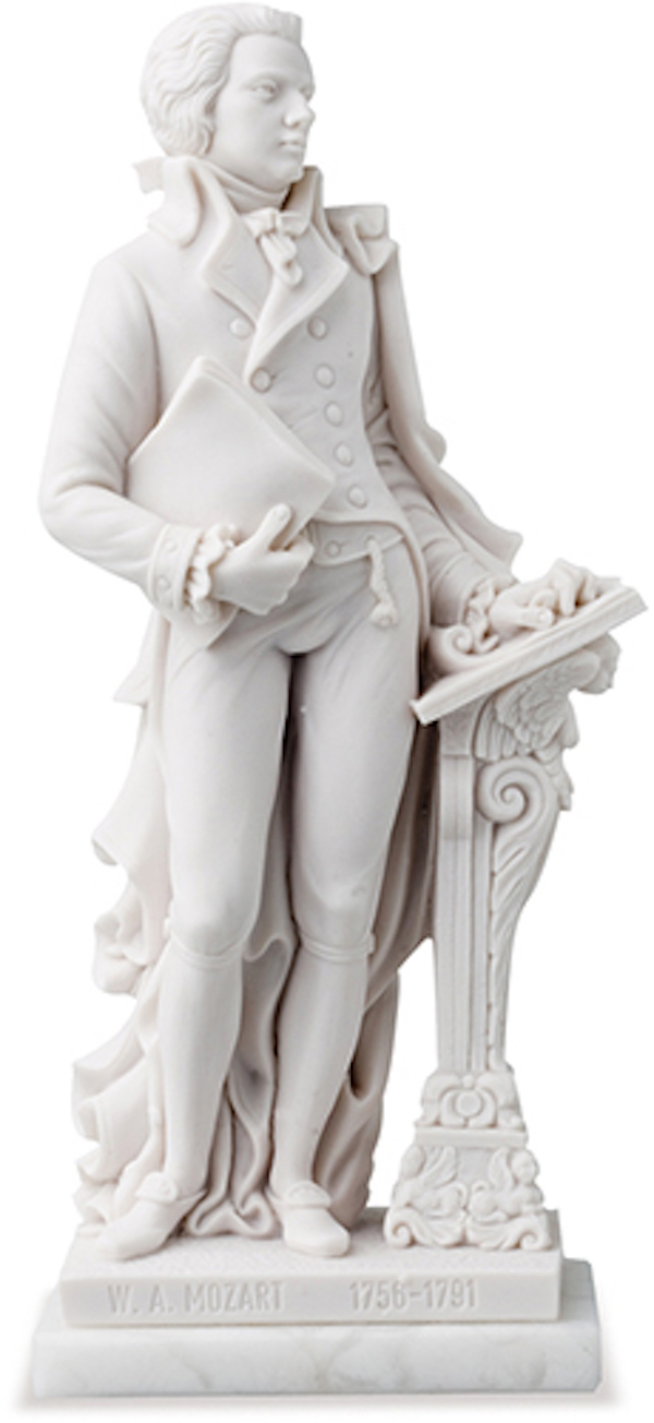 Standfigur Mozart 27cm