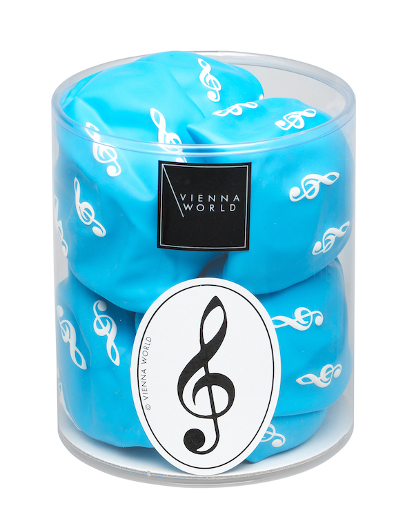 Luftballonbox Violinschlüssel hellblau (20 Stk)
