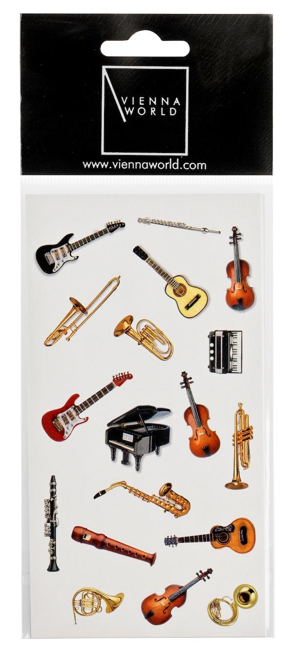 Sticker Instrumente (2 Blatt)