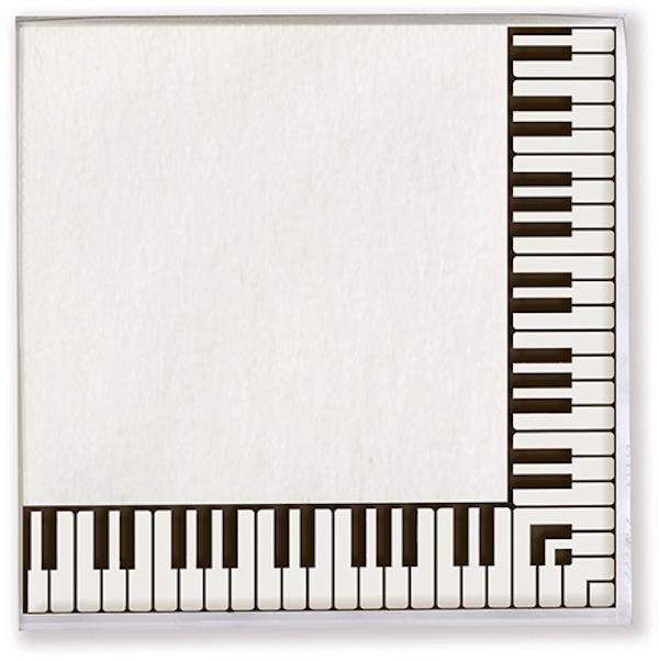 Servietten Tastatur 33x33cm