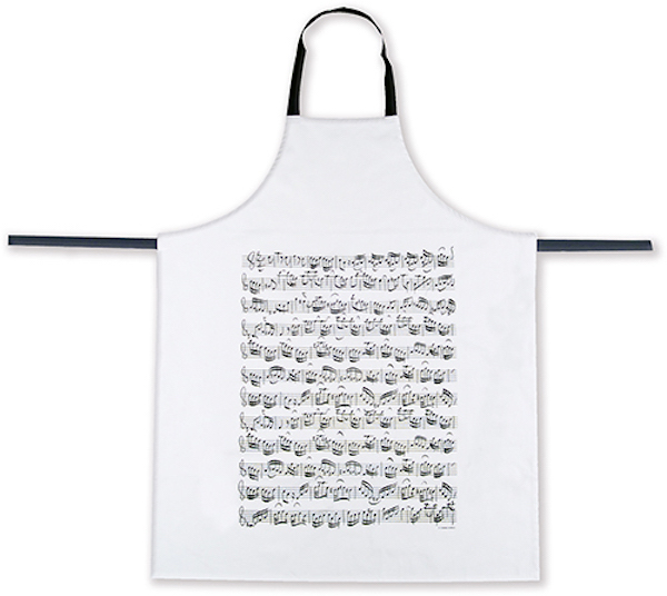 Apron Sheet music white