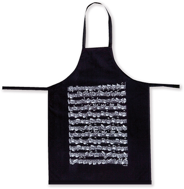 Apron Sheet music black