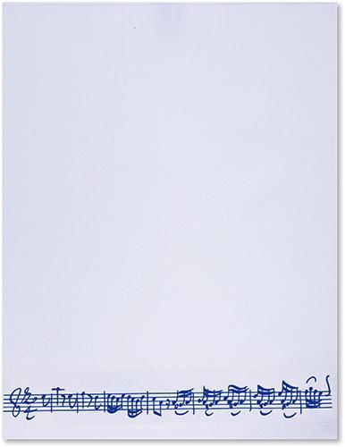 Handtuch Notenzeile blau
