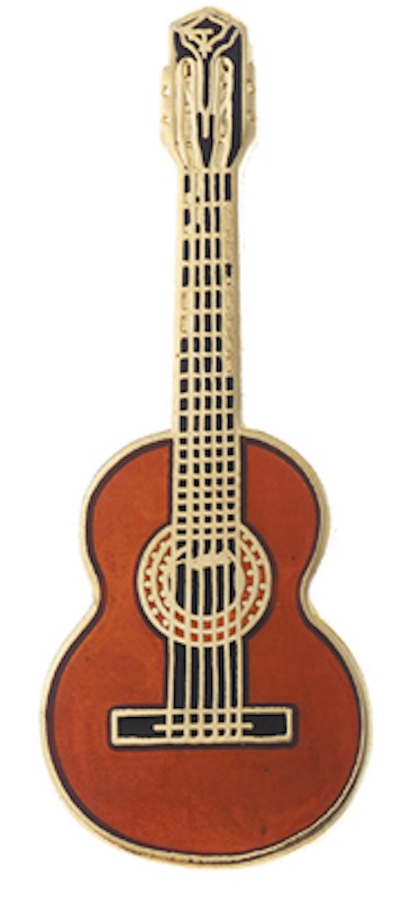 Pin Gitarre dunkel
