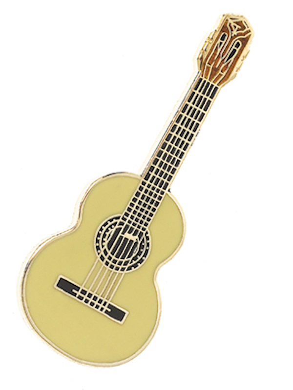 Pin Gitarre hell
