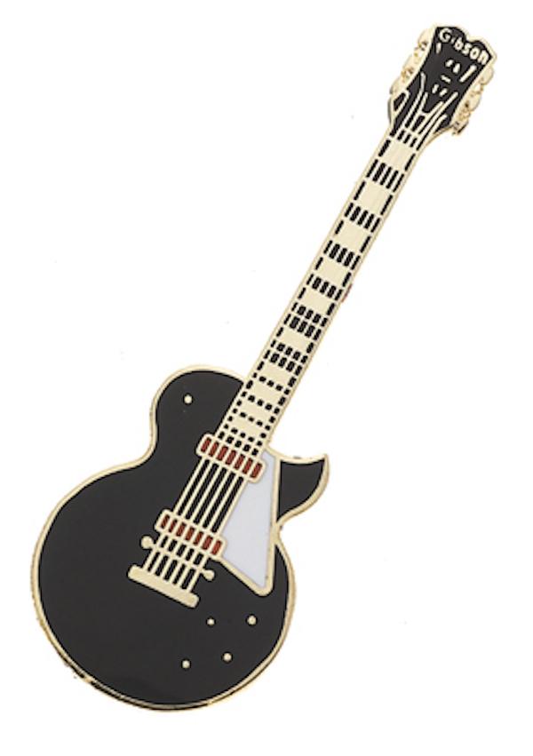 Pin E-Gitarre schwarz