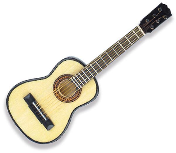 Miniaturpin Gitarre