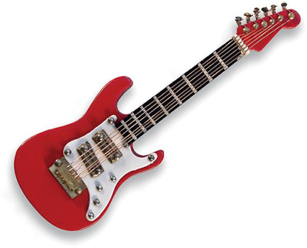 Miniaturpin E-Gitarre rot