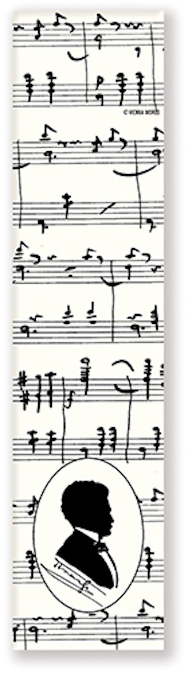 Lesezeichen Strauss Silhouette