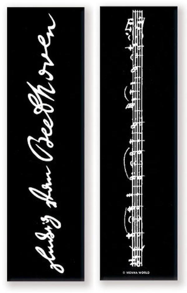 Lesezeichen Beethoven Signatur