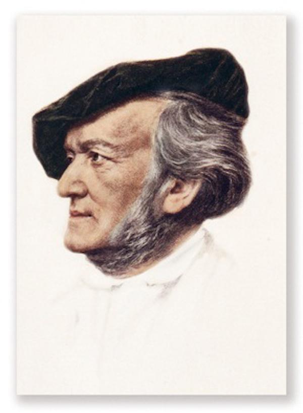 Postkarte Wagner Portrait