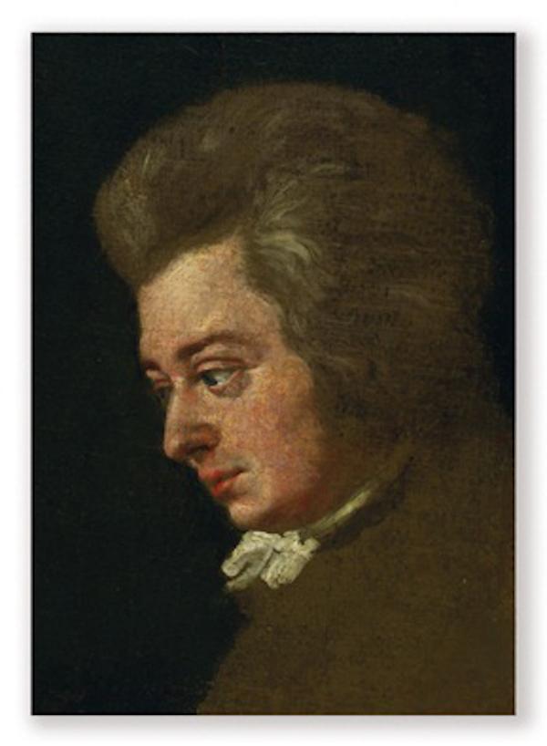 Postkarte Mozart Portrait