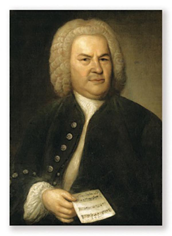 Postkarte Bach Portrait