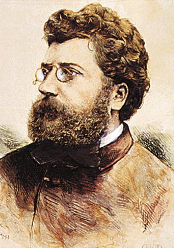 Postkarte Bizet