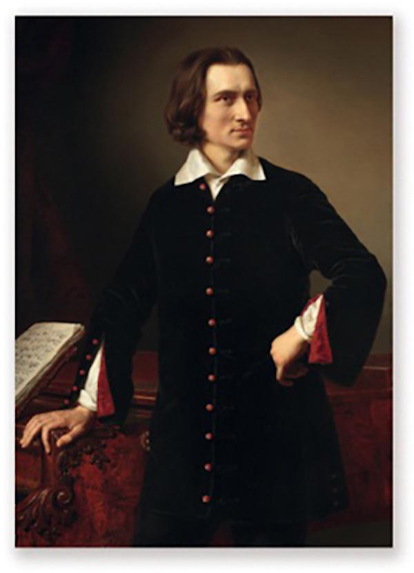 Postkarte Liszt Portrait