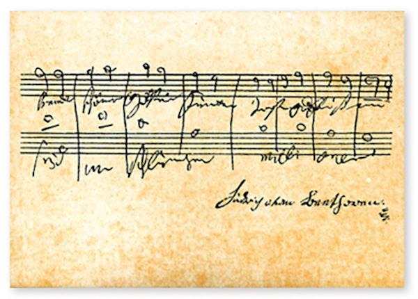 Postkarte Beethoven - Ode an die Freude