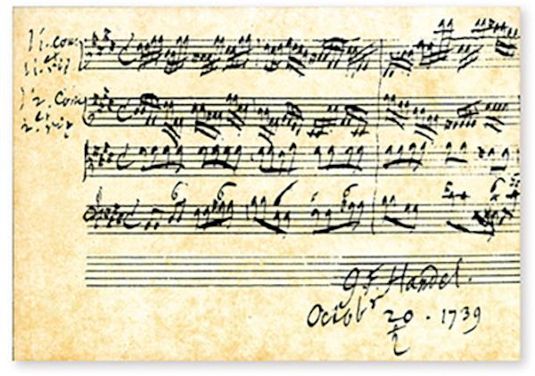 Postkarte Händel - Concerto grosso